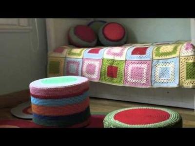 PUERTA AL SUR, tejidos a crochet y dos agujas que decoran hecho a mano.