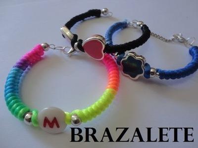 Pulseras tipo brazaletes  multicolor paso a paso diy