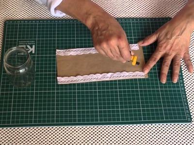 Recicla frascos y conviértelos en hermosos portavelas DIY - Alejandra Coghlan