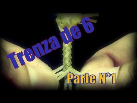 """Trenza de 6: Part 1 """"Pulsera"""" """"El Rincón del Soguero"""""""