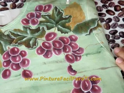 Tutorial Como Pintar Hojas de Parra en Tela 1 - Pintura Facil Para Ti.com.wmv