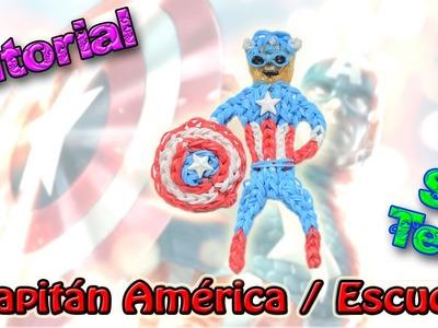 ♥ Tutorial: DOS EN UNO Capitán América. Escudo (sin telar) ♥