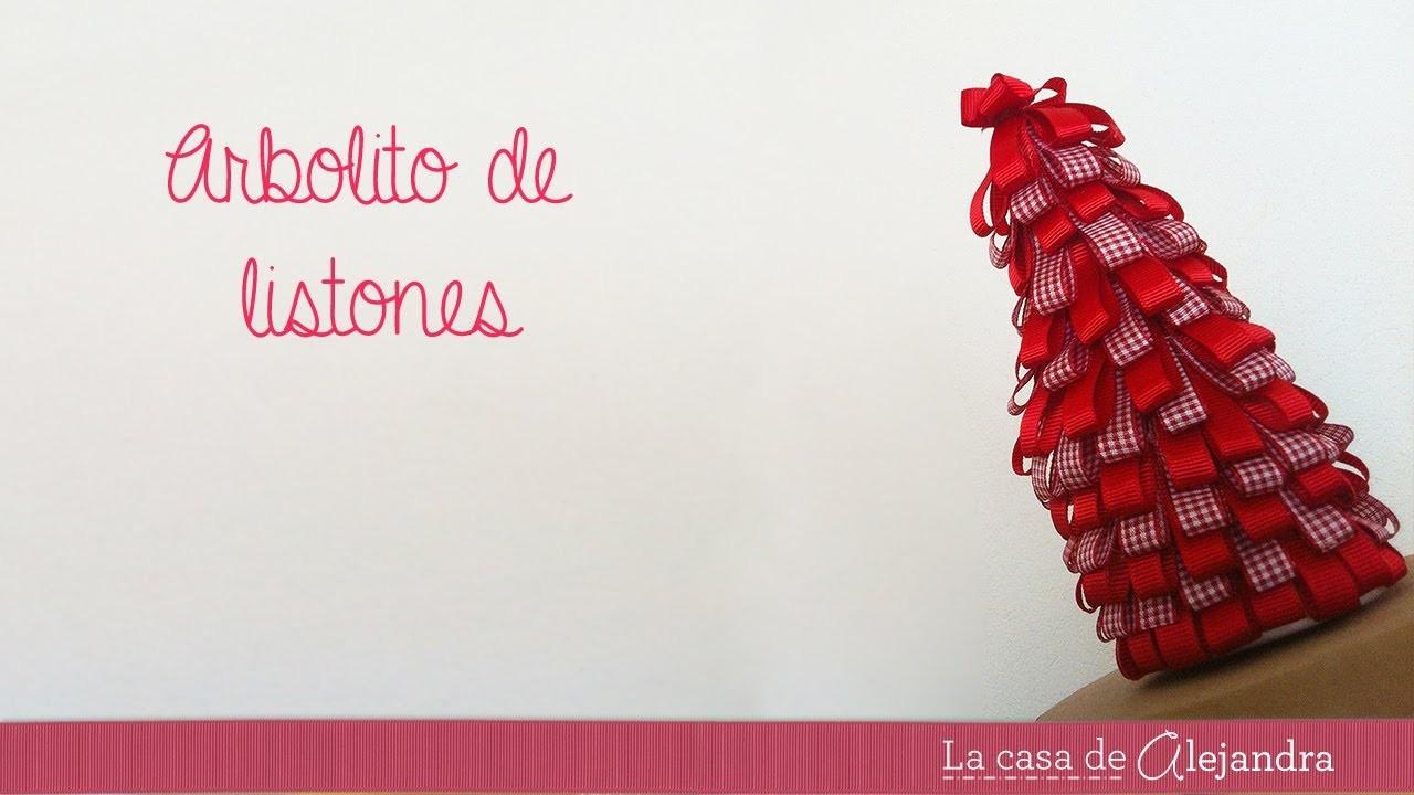 Árbol de  listones - DIY Tree with ribbons