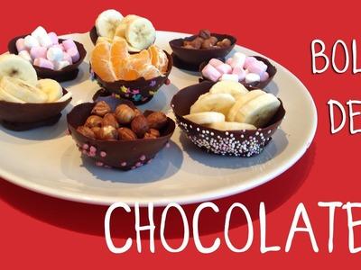 Bols o Cuencos de Chocolate con Globos