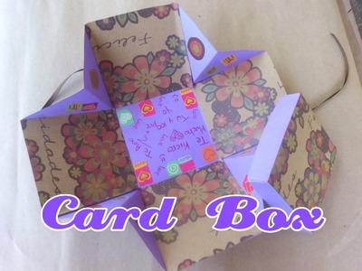 Caja Tarjeta-Card Box. Detalle Novios-Cumple Años