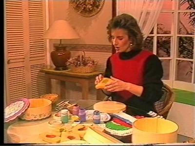 Cajas estampadas con blondas 1989