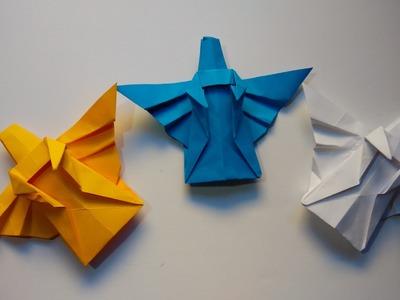 Como hacer un angel de papel navideño