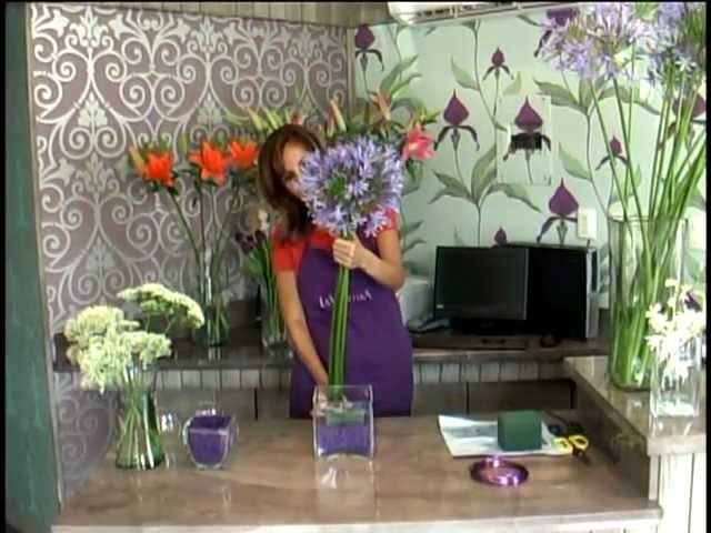Como hacer una arreglo de flores LA VIOLETERA Escuela  y Florería LA VIOLETERA