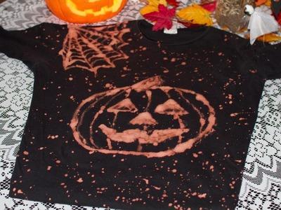 Como Hacer una Camiseta de Halloween Reciclada; T Shirt o Polo