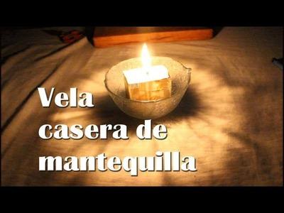 Cómo hacer una vela casera de mantequilla - Vela de mantequilla de emergencia (Experimentos Caseros)