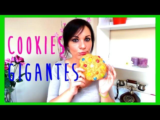 Como se hacen galletas cookies gigantes de lacasitos o M&M´s, receta fácil, ideas para cumpleaños