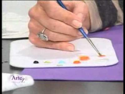 Cómo usar Gel Medium Horneable y decorar piezas de porcelana y vidrio