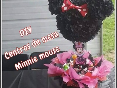 (DIY) Centros de mesa Minnie mouse