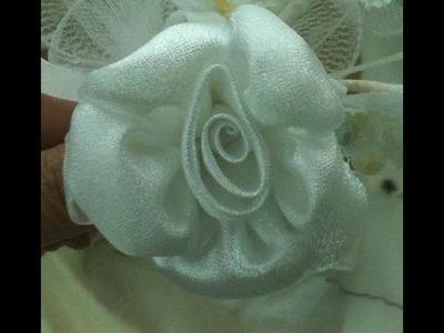 DIY rosa flor de petalos rellenos