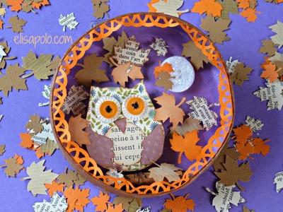 DIY, Scrap Owl, Cute Owl, Búho Scrap, Manualidades para El Otoño.