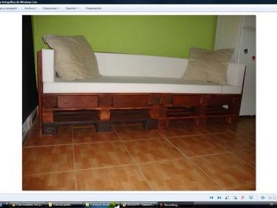 Tutorial hacer sofá con palets explicado.