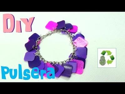 145. DIY PULSERA [FACIL] (RECICLAJE DE BOTES PLASTICOS)