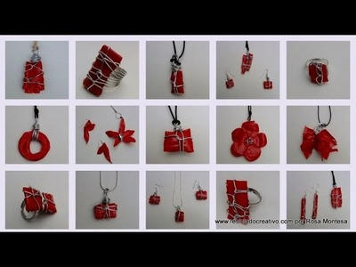 Bisutería realizada con botellas de plástico - Jewelry made out of recycled plastic bottles