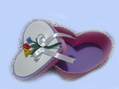 Caja Corazón en Goma Eva Para San Valentin