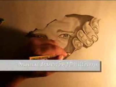 Como dibujar un hombre saliendo de su libreta