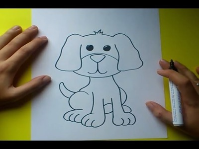 Como dibujar un perro paso a paso 7 | How to draw a dog 7