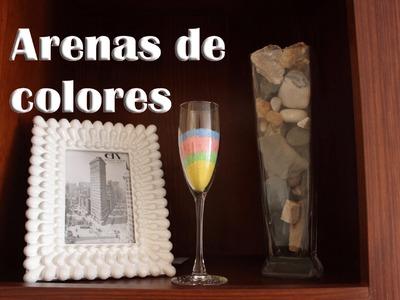 Cómo hacer arenas de colores, manualidades con tizas de colores (Manualidades Fáciles)