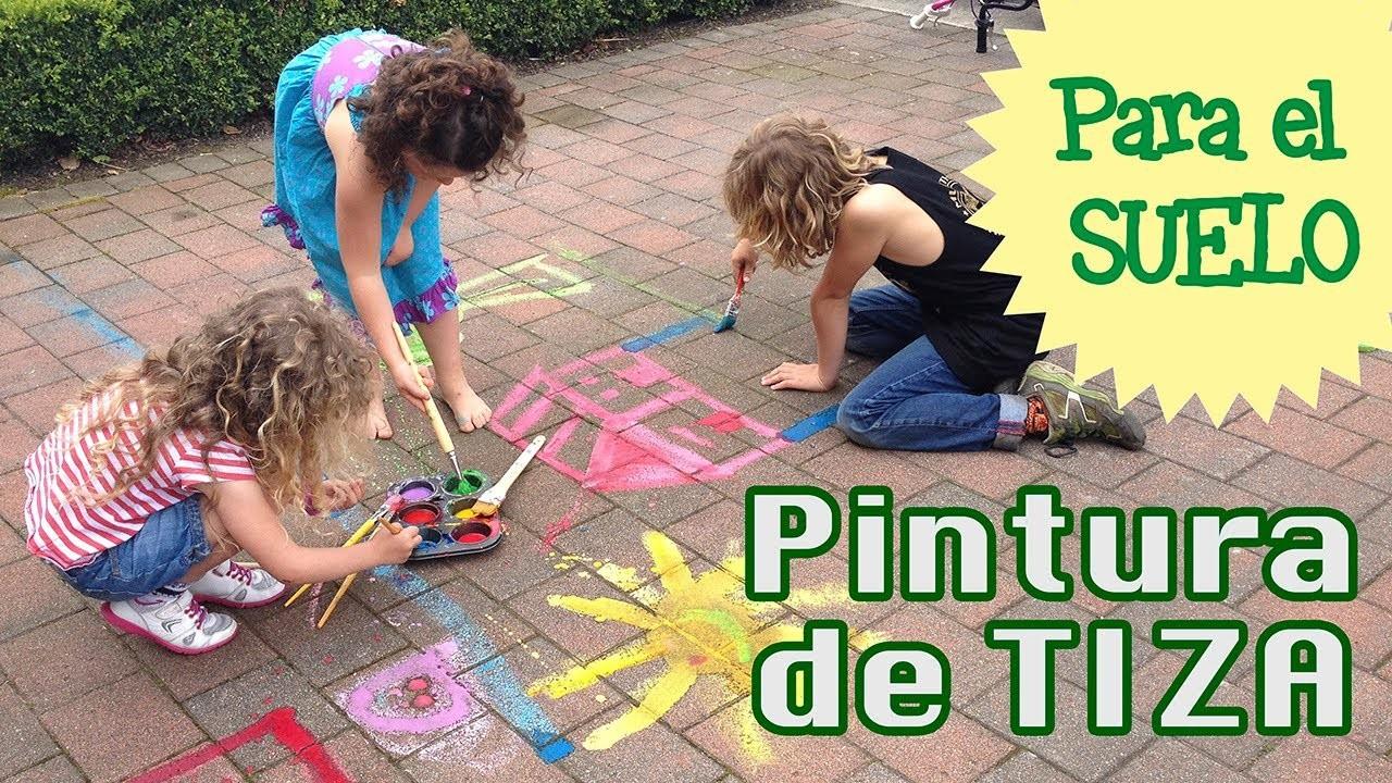 Cómo hacer tiza casera para el suelo: chalk paint