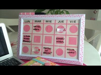 Cómo hacer un organizador semanal para la escuela. Manualidades para la vuelta al cole