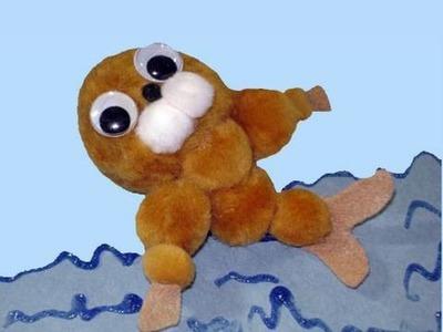Como hacer una foca con pompones