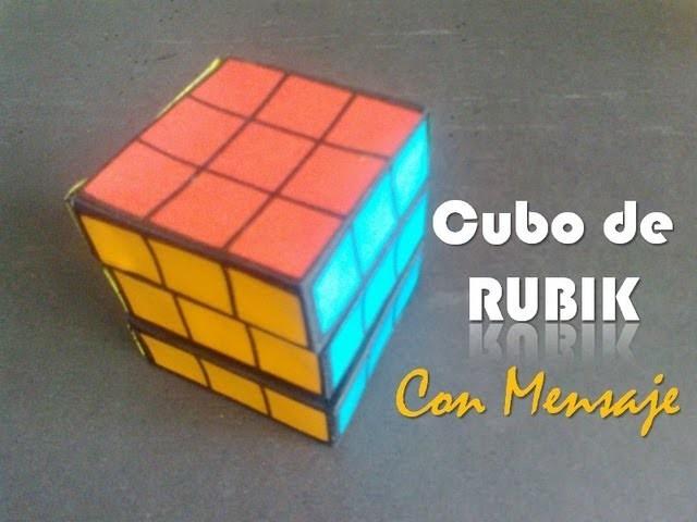 Cubo de RUBIK con Mensaje