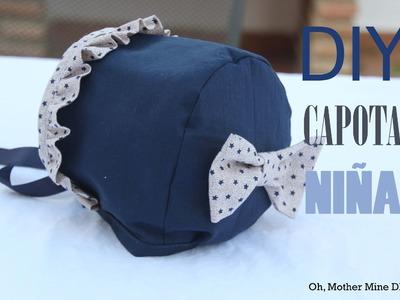 DIY Costura: Cómo hacer capota de niña (patrones gratis talla 3 meses a 5 años)