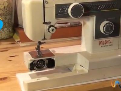Enhebrar una máquina de coser