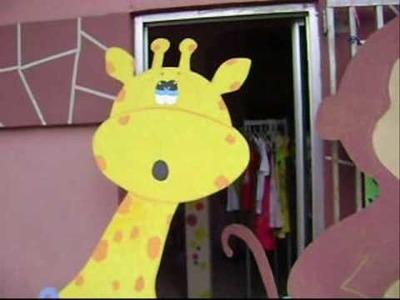 MANOS ARTISTICAS - ANRIOCS- Animalitos en Fommy Relleno y Madera Fibran