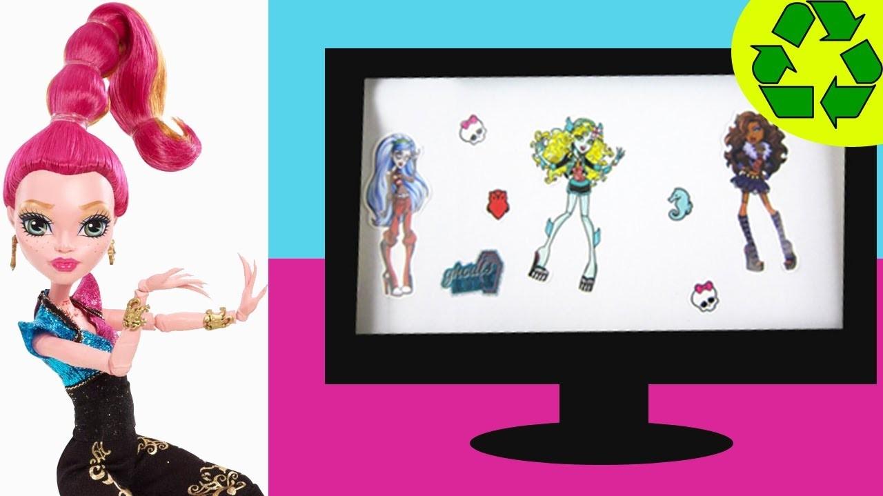 Manualidades para muñecas: Cómo hacer una televisión tv que