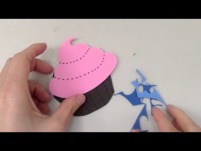 Marcalibros en forma de Cupcake Cremoso; Manualidades para niños