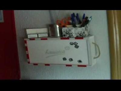Organizador para escritorio muy facil,bonito y barato