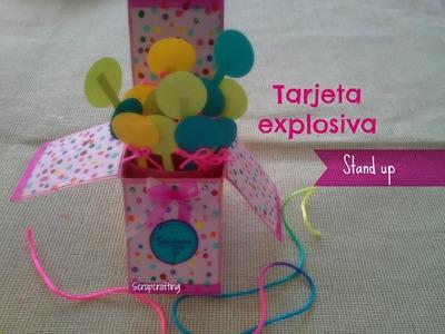Tarjeta Explosiva (Stand up) + Sencilla