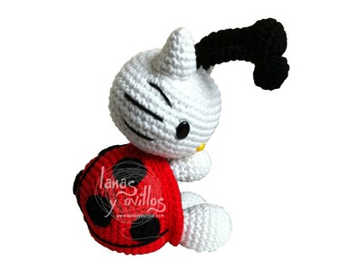 Tutorial Hello Kitty Mariquita Amigurumi Ladybug 1 de 3 (english subtitles)