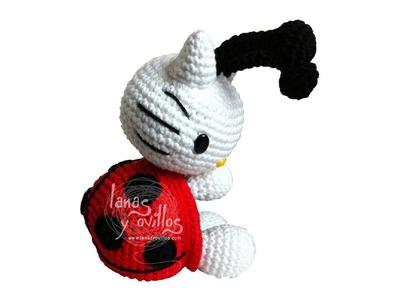 Tutorial Hello Kitty Mariquita Amigurumi Ladybug 1 de 3 (english subtitles)