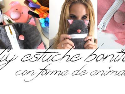 Vuelta al cole! DIY estuche con forma de animal:)  .   Vikguirao