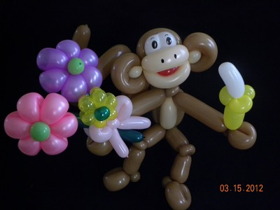 CHANGO CON FLORES.- MONKEY WITH FLOWERS .