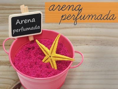 Como hacer arena perfumada