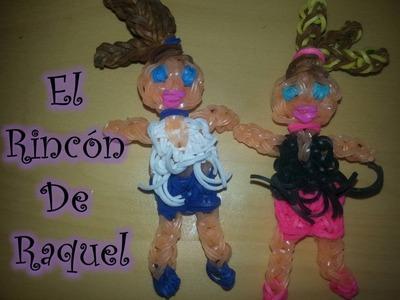Como hacer una muñeca moderna con gomitas rainbow loom