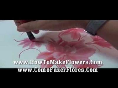 Como Pintar flores en la pared  y en donde quieras muy fácil muy rápido