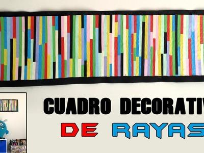 Cuadro decorativo de rayas de colores