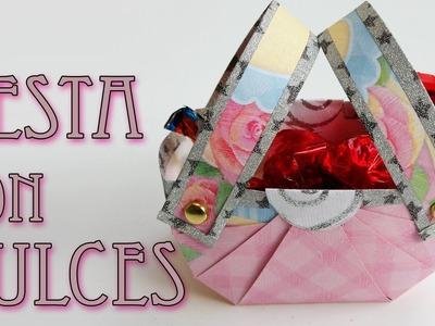 Manualidades para regalar - Canasta con dulces - Manualidades para todos