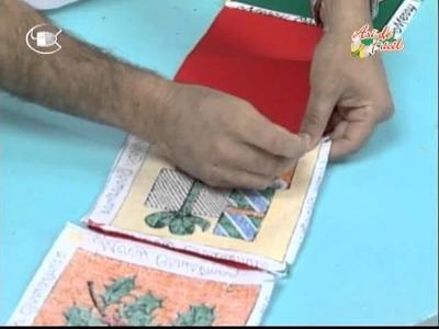 Manualidades Van Gogh - Tarjetero navideño.