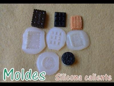 Moldes con silicona caliente