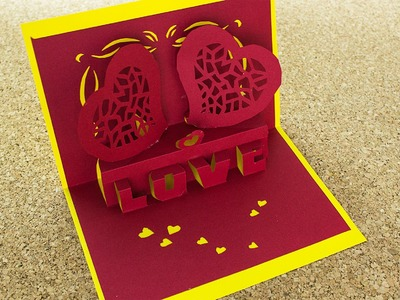 Tarjeta Love 3D Pop Up. Enamorados. #SanValentinDePapel ( Remake )