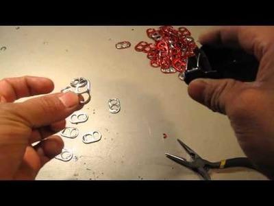 1er tutorial Como hacer un lampara con anillas de Refresco